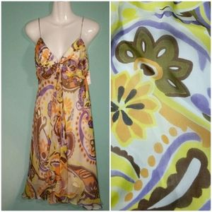 Original Milly of NY 100 Silk Floral Dress